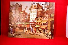 Vintage Litho USA 8x10 P-226 Lesaout Paris City Repro Print