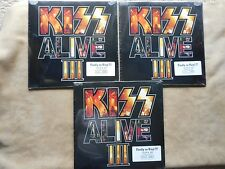 "KISS ""ALIVE III"" LP'S RED WHITE & BLUE VINYL FACTORY SEALED SAME # 0994 RARE"