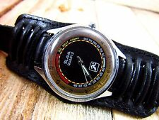 Vintage Russian Soviet quartz sport watch SLAVA with pulse meter for runners