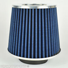 "Universal Mesh Twin Cone Air Filter Blue 70mm / 2.75"" inch Inlet (P/N 76289)"