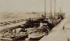 RARE Set of 3 Photos - 1880 Sault Ste. Marie MI Boats Lock Lake Superior Ontario