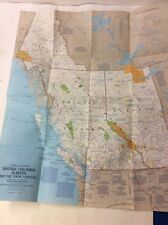 Vintage National Geographic Map Poster Close-Up: Canada British Columbia Alberta