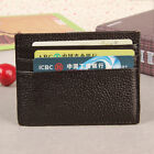 Genuine Leather Slim Thin Credit Card Holder Wallet Cash Mini Purse ID Case Box