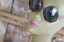 Polaroid * Sonnenbrille * Achteckig * Kupfer * Getöntes Glas * Retrodesign * 70s