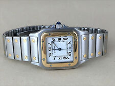 Mens Cartier Santos Solid 18K Bezel Man Cartier Beautiful watch Cartier ref04716