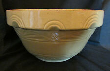 Beautiful Very Large Antique Yelloware Mixing Bowl