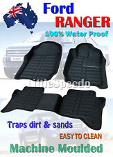 Ford Ranger PX PX2 Dual Crew Cab Floor Mats Rubber Vinyl Tailor Made 2011 - 2017