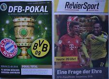 Programm & Revier Sport Pokal Finale 2016 Bayern München - Borussia Dortmund