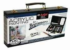 Royal and Langnickel Beginners Acrylic Painting Set With 2 Canvas Boards 5x7 in.