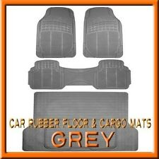 3PC Honda CRV Premium Grey Rubber Floor Mats & 1PC Cargo Trunk Liner mat