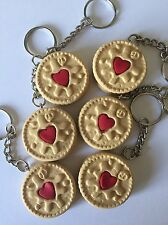 Jammy Dodger Keyring Novelty Gift Food humour Fimo