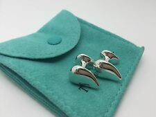 Tiffany & Co RARE Peretti Tear Drop Cufflinks Cuff Links w/ Pouch
