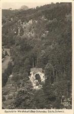 Bad Schandau, Sächs. Schweiz, Gasthaus Waldhäus'l, DDR Ansichtskarte von 1958