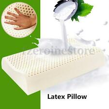 LATEX PILLOW 100% NATURAL ORGANIC LATEX COTTON ZIPED COVER 50*30*9CM WAVE SHAPE