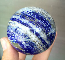 320g 59mm Natural BLUE LAPIS LAZULI PYRITE SPHERE Ball CRYSTAL