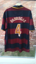 ARSENAL FC FABREGAS 4 2007-08 3RD STRIP MAROON & BLUE FOOTBALL SHIRT XL VGC
