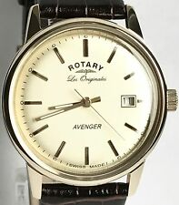 ROTARY GENTS LES ORIGINALES OCEAN AVENGER DATE WATCH