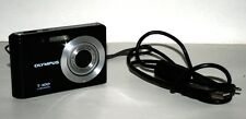 Olympus T-100 Black 12MP 3X Optical Zoom Digital Camera Bundle USB Cable - Used