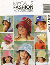McCall's Children's Hats Pattern 3977 Size S,M,L