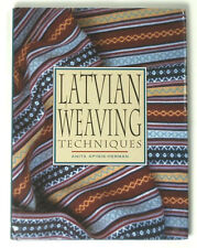 BOOK Latvian Weaving Techniques traditional ethnic design pattern folk art card