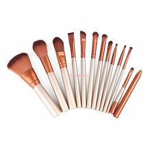 12PCS Kabuki Style Gold Pro Makeup Brushes Tool Set Kit Foundation Eyeshadow Lip