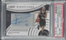 TONY PARKER 2015 PANINI CLEAR VISION SIGNATURES SPURS ON CARD AUTO #D /119 PSA 8