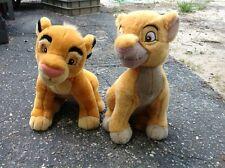 Disney Plush 14 Inch Lion King Young Simba And Adult Simba
