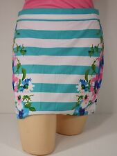 Skirt X-Large Aeropostale womens Juniors  Blue and White Striped Floral