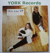 """THIS WAY UP - Tell Me Why - Excellent Condition 7"""" Single Virgin VS 954"""