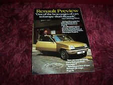 Catalogue Magazine / Brochure RENAULT Preview Magazine 1978 //