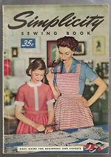 GREAT VTG 1950s SEWING BOOK DRESSMAKING SIMPLICITY SEWING BOOK 1954
