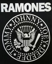 "RAMONES PUNK ROCK 77"" CBGB'S BLACK CANVAS BACK PATCH"