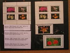 Bernera: 1982 Flowers (11th Series) UMM Minisheets inc Imperforate