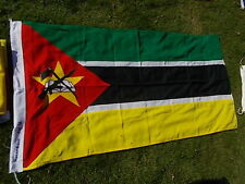 "MOZAMBIQUE AFRICA AFRICAN Vintage National Country Cloth Flag 69""x33"" VGC"