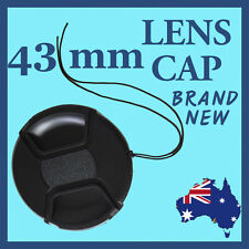 43mm High Quality Snap-On Lens Cap Cover For Canon Nikon