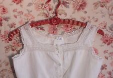 Antique French Edwardian Bodice/Camisole Top, Lace Trim~Women's Clothing