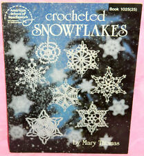 American School of Needlework Crocheted Snowflakes Book Mary Thomas 16 Patterns