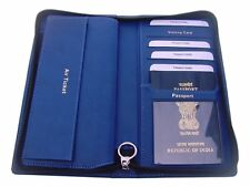 Tw Navy Blue,passport holder,cheque book holder,air ticket,currency,credit card