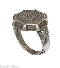 antik massiv islamische Siegelring mit Gravur silber Ring aus Afghanistan Nr:477