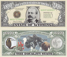 Wyoming WY State Quarter Novelty Money Bill # 143