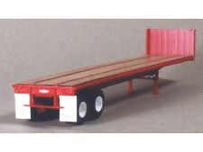 HO 1/87 Lonestar Models # 5000 Trailmobile 40' Flat Bed Trailer Kit - Red