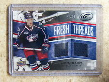 08-09 UD ICE Fresh Threads Dual Jersey Black #FT-NF NIKITA FILATOV Rookie RC /25