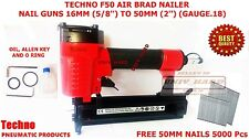 TECHNO F50 BRAID AIR NAILER 18 GUAGE NAIL GUNS 16MM TO 50 MM