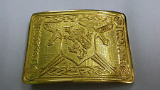 Mens Lion Rampant Saltire Belt Buckle Gold/Scottish Kilt Belt Buckle/Belt Buckle