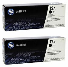 Brand New! Set of 2 Genuine HP Q2612A 12A Black Toner Cartridges OEM *FREE S/H*