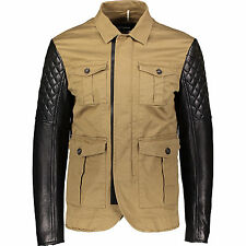 DSQUARED2 Jacket With Quilted Leather Sleeves  M IT50/UK40 Moto Biker