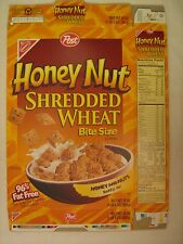 Empty POST Cereal Box 1998 HONEY NUT Shredded Wheat BITE SIZE 20 oz [G7e7]
