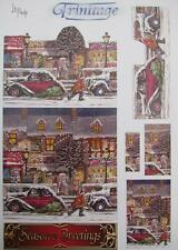 3D Trinitage Pop-up Card Making Paper Tole Christmas Town NEW