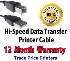 NEW USB Printer Cable Lead for HP DESIGNJET PLOTTERS With 12 Month Warranty