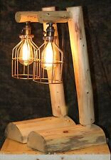 Rustic Log Lamps  - Lodge, Western, Vintage, Log Cabin Furniture